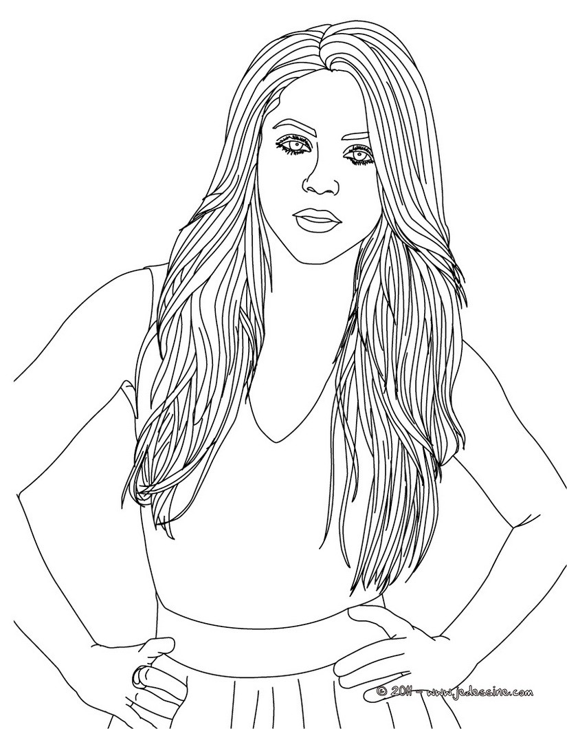 Shakira Coloring Pages Viewing Gallery