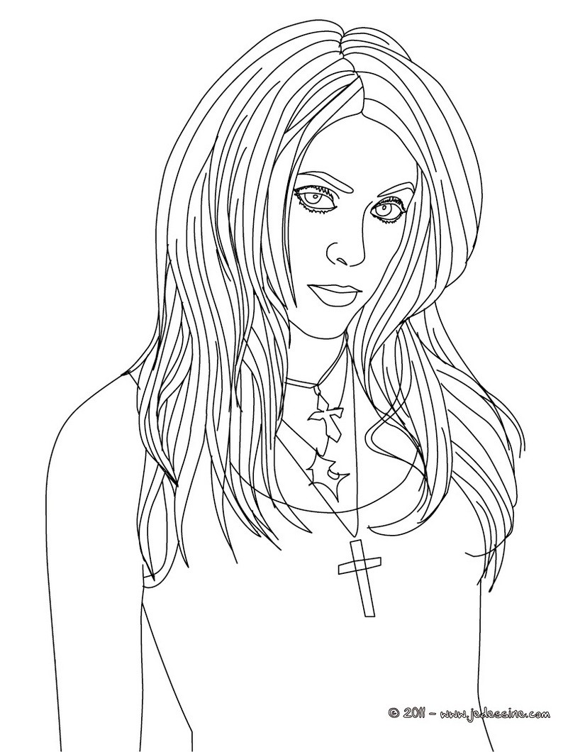 hot ladies coloring pages - photo#28