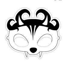 Masque à imprimer : Le masque de PANDHALLOWEEN VAMPIRE PANFU