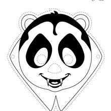 Masque à imprimer : Le masque de PANDHALLOWEEN PANFU
