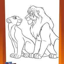 Coloriage Le Roi Lion Coloriages Gratuits A Imprimer Sur Jedessine Com