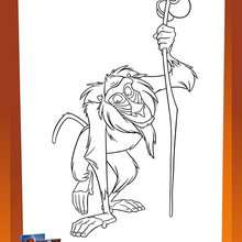 Coloriage RAFIKI - Coloriage - Coloriage DISNEY - Coloriage LE ROI LION