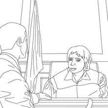 Coloriage d'un juge et d'un procureur de la republique - Coloriage - Coloriage GRATUIT METIER - Coloriage MAGISTRAT