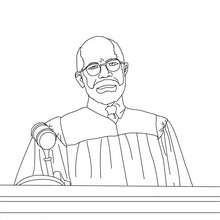 Coloriage du juge d'un proces - Coloriage - Coloriage GRATUIT METIER - Coloriage MAGISTRAT