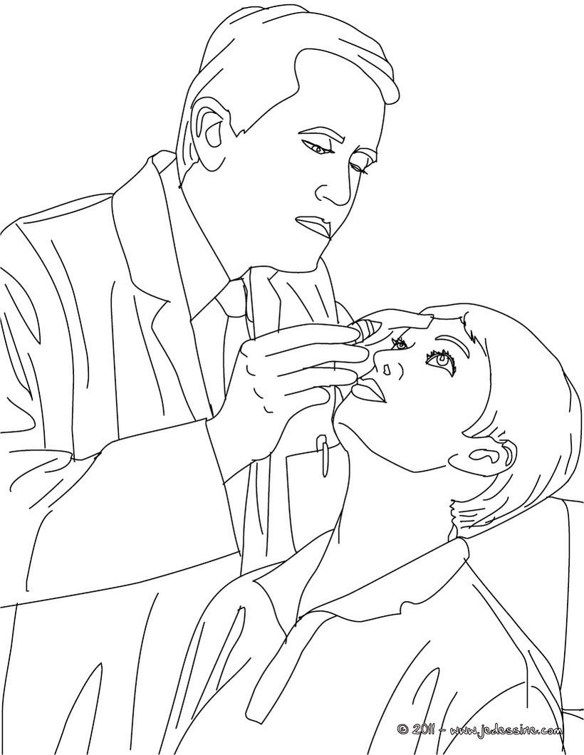 Coloriages coloriage medecin ophtalmologue - Coloriage docteur ...