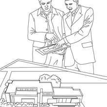Coloriage gratuit agent immobilier - Coloriage - Coloriage GRATUIT METIER - Coloriage AGENT IMMOBILIER