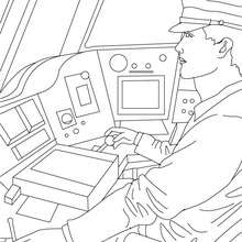 Coloriage conducteur de la SNCF