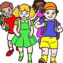 Un groupe d'écoliers