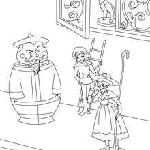 Coloriage conte le stoïque soldat de plomb - Coloriage - Coloriage de CONTES CELEBRES - Coloriages des contes d'Andersen