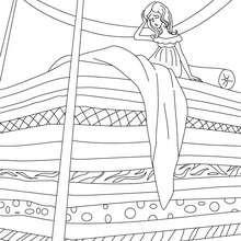 Coloriage conte la Princesse au Petit Pois - Coloriage - Coloriage de CONTES CELEBRES - Coloriages des contes d'Andersen