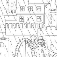 Coloriage gratuit la princesse au petit pois - Coloriage - Coloriage de CONTES CELEBRES - Coloriages des contes d'Andersen