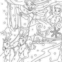 Coloriage la reine des neiges - Coloriage - Coloriage de CONTES CELEBRES - Coloriages des contes d'Andersen