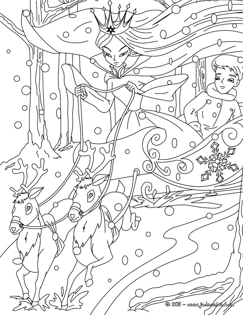 Coloriages coloriage la reine des neiges - Dessin de reine des neiges ...