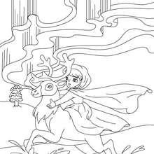 Coloriage gratuit conte la reine des neiges - Coloriage - Coloriage de CONTES CELEBRES - Coloriages des contes d'Andersen