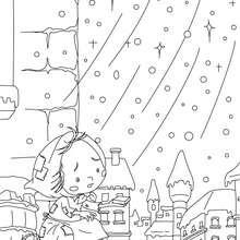 Coloriage conte la petite fille aux allumettes - Coloriage - Coloriage de CONTES CELEBRES - Coloriages des contes d'Andersen