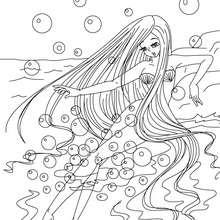 Coloriage gratuit La petite Sirène - Coloriage - Coloriage de CONTES CELEBRES - Coloriages des contes d'Andersen