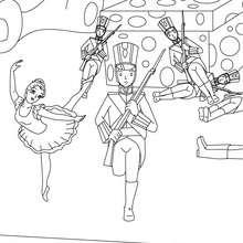Le stoïque soldat de plomb et sa ballerine - Coloriage - Coloriage de CONTES CELEBRES - Coloriages des contes d'Andersen