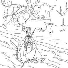 Coloriage gratuit le stoique soldat de plomb - Coloriage - Coloriage de CONTES CELEBRES - Coloriages des contes d'Andersen