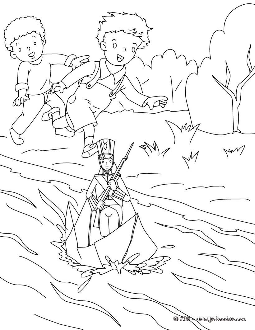 Coloriages coloriage gratuit le stoique soldat de plomb - Coloriage petit soldat ...
