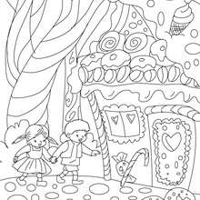 Coloriage Hansel et Gretel - Coloriage - Coloriage de CONTES CELEBRES - Contes de GRIMM à colorier