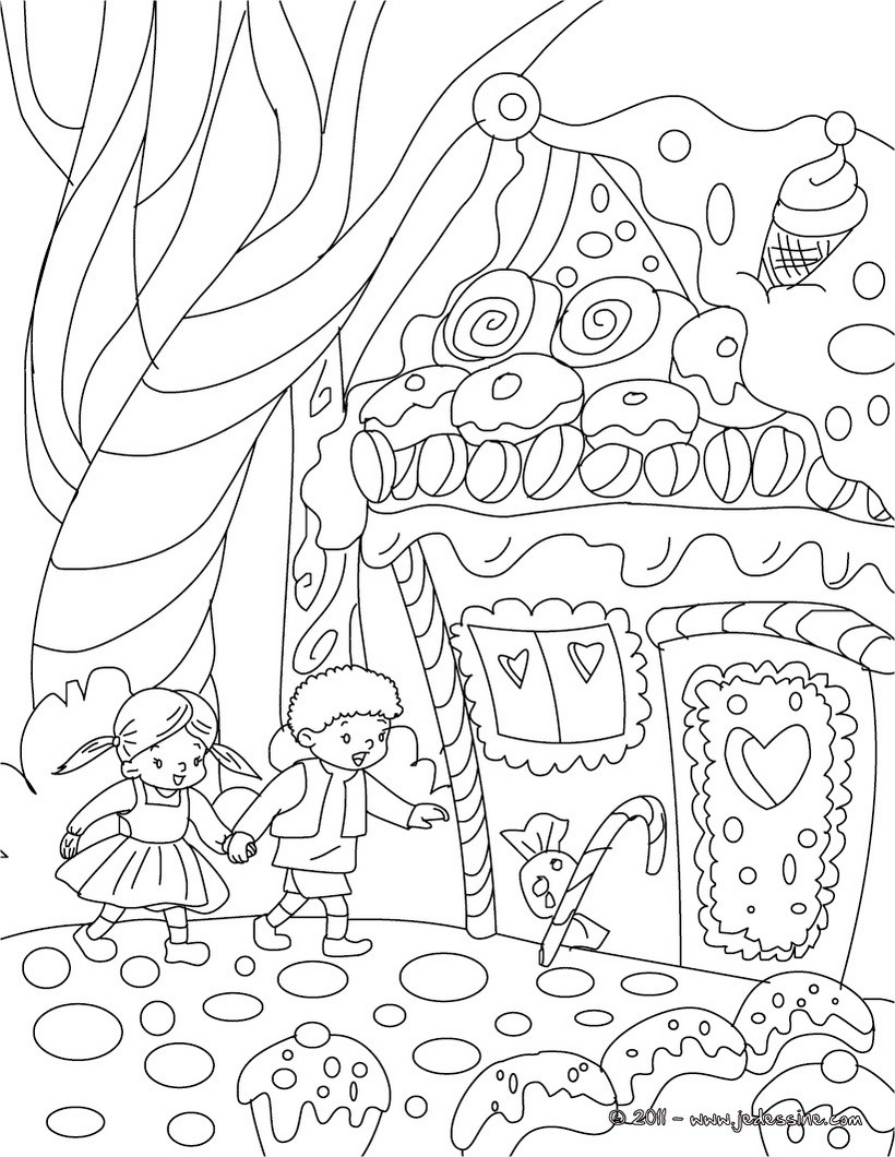 hansel si gretel coloring pages - photo#5