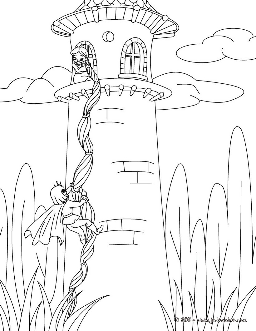 Coloriages coloriage raiponce - Dessin raiponce ...