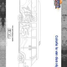 Coloriage High5 - BASKUP - Bus High5