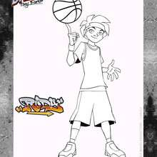 Coloriage High5 - BASKUP - Rudy