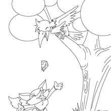 Coloriage gratuit Le Corbeau et le Renard - Coloriage - Coloriage de CONTES CELEBRES - Les fables de La Fontaine à colorier