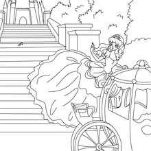 Coloriage gratuit de Cendrillon - Coloriage - Coloriage de CONTES CELEBRES - Les contes de Perrault à colorier