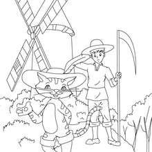 Coloriage le Chat Botté - Coloriage - Coloriage de CONTES CELEBRES - Les contes de Perrault à colorier