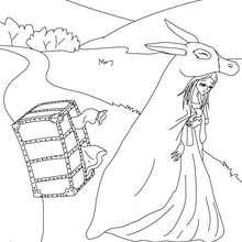 Coloriage gratuit Peau d'Ane - Coloriage - Coloriage de CONTES CELEBRES - Les contes de Perrault à colorier