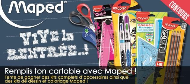 Gagne plein de cadeaux pour la rentrée avec MAPED !