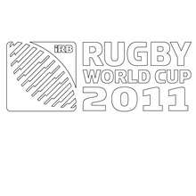 Coloriage COUPE DU MONDE DE RUGBY 2011 - Coloriage - Coloriage SPORT - Coloriage RUGBY