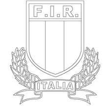 Coloriage équipe de Rugby ITALIE FIR - Coloriage - Coloriage SPORT - Coloriage RUGBY