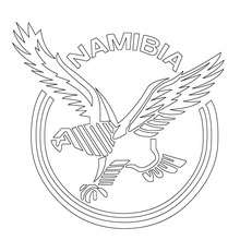 Coloriage équipe de Rugby NAMIBIE - Coloriage - Coloriage SPORT - Coloriage RUGBY