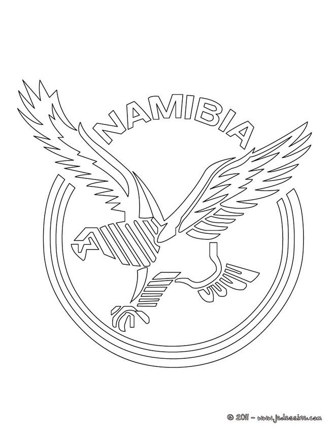Coloriages blason de l 39 quipe de rugby de namibie - Coloriage de rugby ...