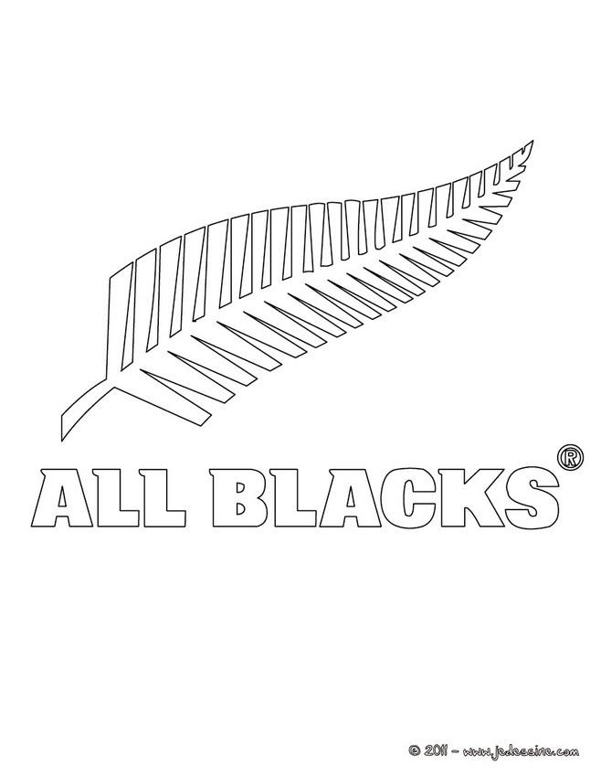 Coloriages blason des all black - Coloriage de rugby ...