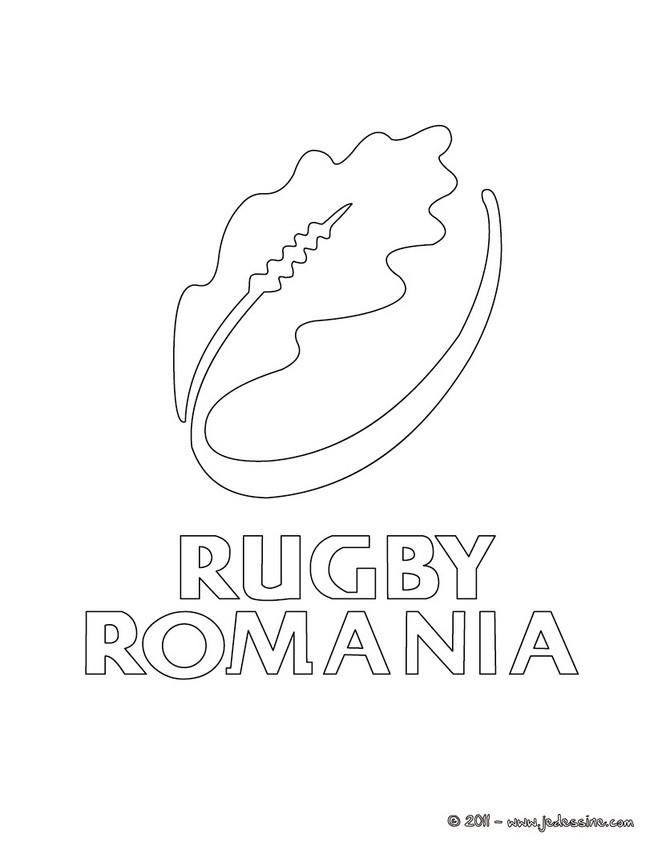 Coloriages blason quipe de roumanie de rugby - Coloriage de rugby ...