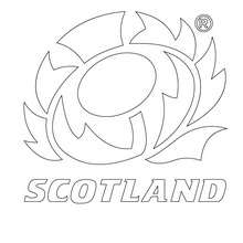 Coloriage quipe de Rugby ECOSSE - Coloriage - Coloriage SPORT - Coloriage RUGBY