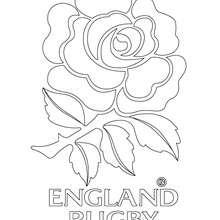 Coloriage : Blason de l'Angleterre au rugby