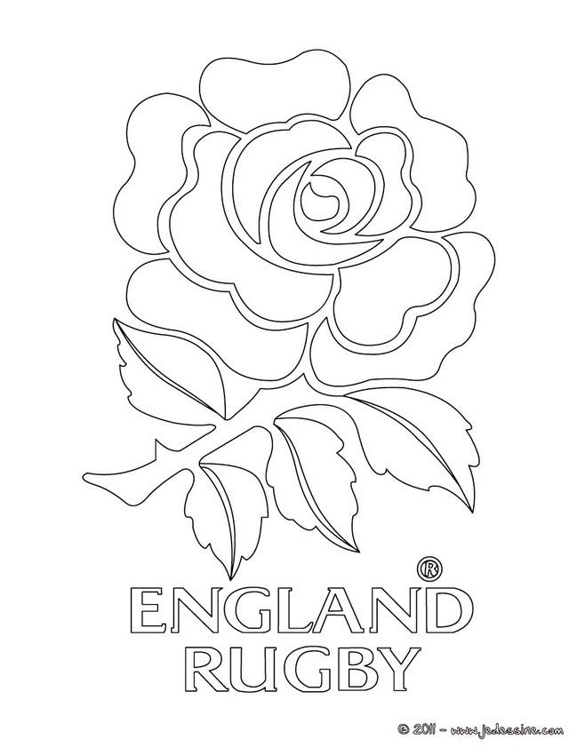 Coloriages Blason De L Angleterre Au Rugby Fr Hellokids Com
