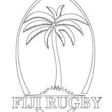 Coloriage équipe de Rugby ILES FIDJI - Coloriage - Coloriage SPORT - Coloriage RUGBY