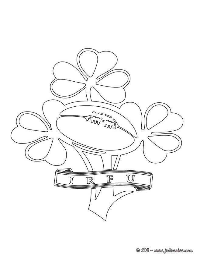 Coloriages blason de l 39 quipe d 39 irlande de rugby - Coloriage de rugby ...