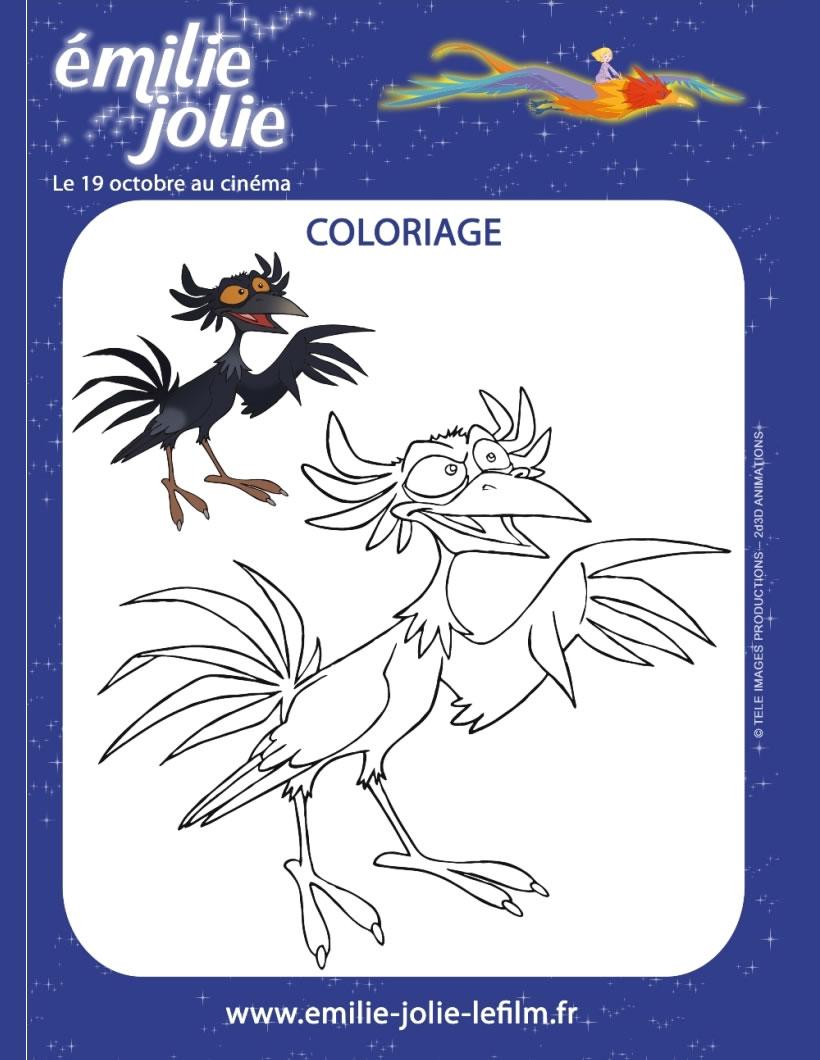 Coloriages coloriage du film emilie jolie - Coloriage jolie ...