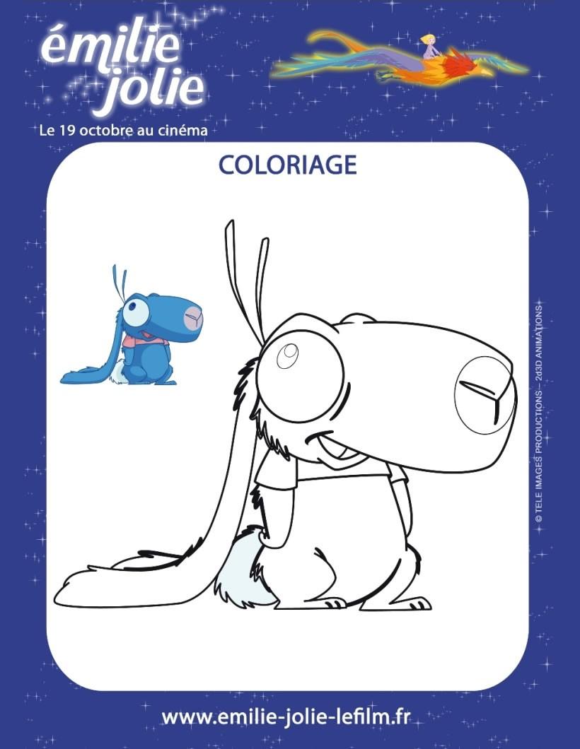 Coloriages le lapin bleu d 39 emilie jolie - Coloriage jolie ...