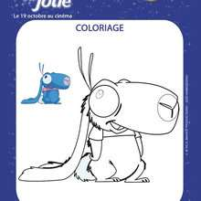 Le lapin bleu d'Emilie Jolie - Coloriage - Coloriage FILMS POUR ENFANTS - Coloriage EMILIE JOLIE