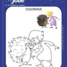 Coloriage : Emilie Jolie et le hérisson