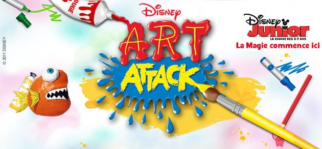 Super Idées d'activités avec ART ATTACK sur DISNEY JUNIOR - Activités  GM74