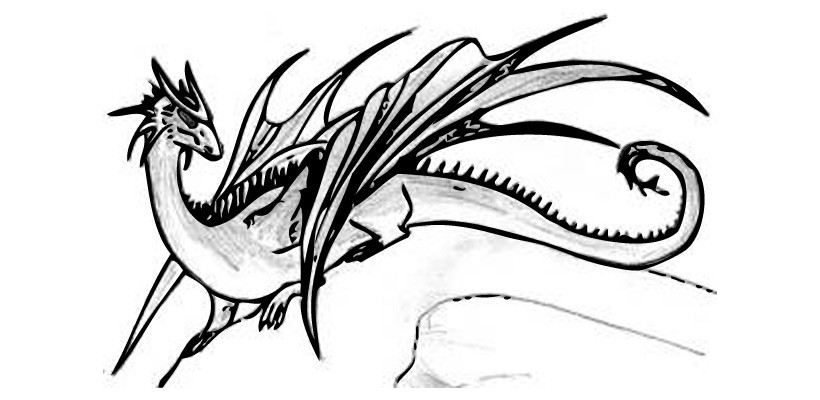 Comment dessiner le dragon au repos - Dessiner dragon ...